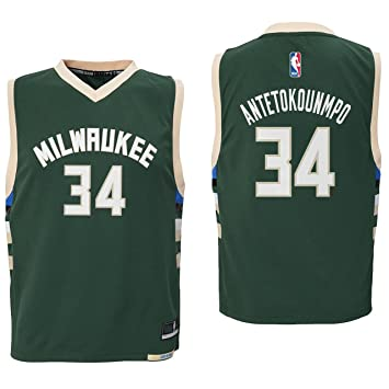hot sale online ba874 009e4 Outerstuff Giannis Antetokounmpo Milwaukee Bucks #34 Green Youth Road  Replica Jersey