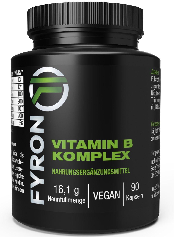 FYRON Complejo Vitaminas B - Energia & Inmunidad - Natural y Vegano: Amazon.es: Salud y cuidado personal