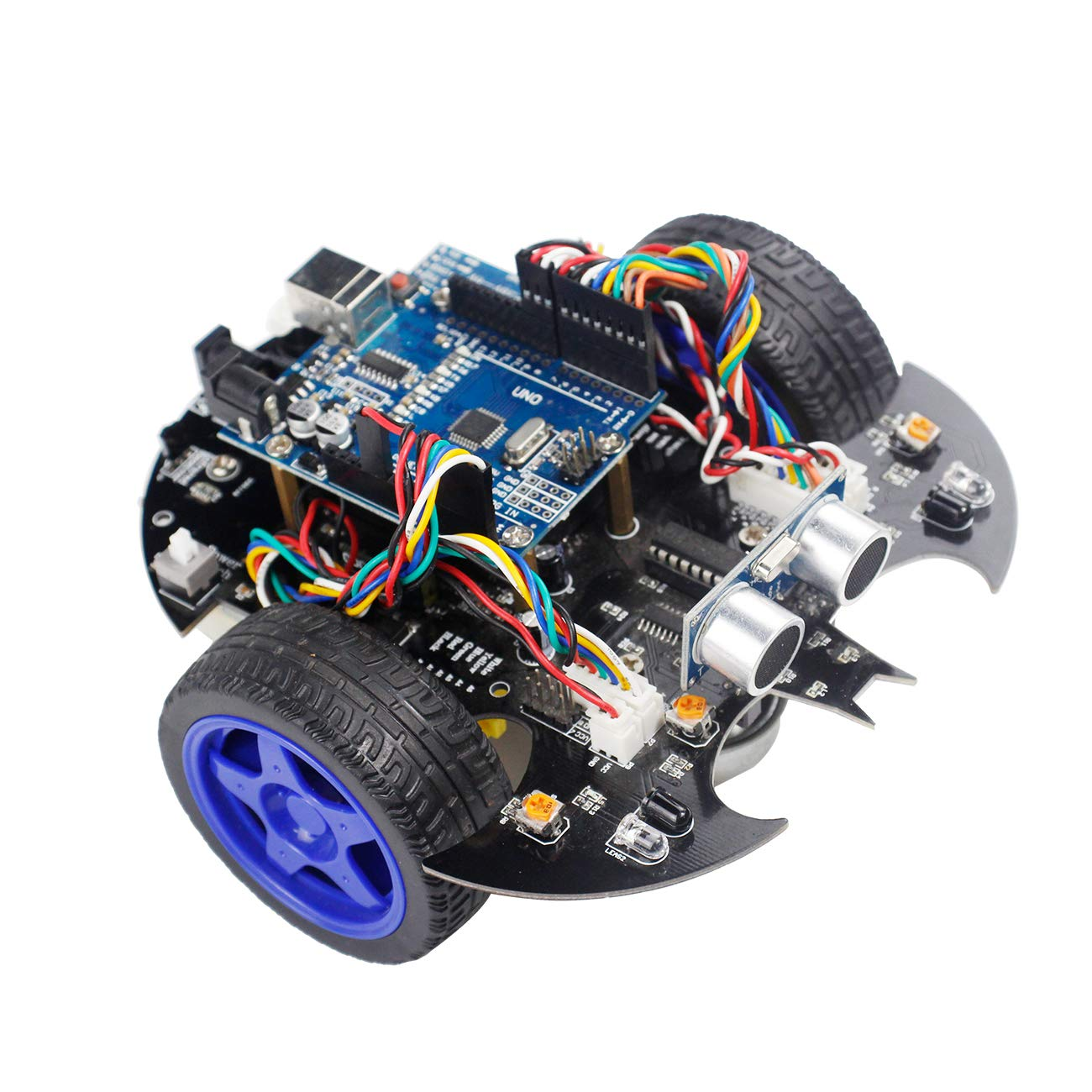 Yahboom-maker Robotics Starter Learning Building Kits Robot Car Kit for Arduino UNO R3 Scratch 3.0 Bat Smart Robots Toy for Programmable STEM Educational Toys with Tutorial for Kids 8+ and Adults by Yahboom-maker (Image #7)