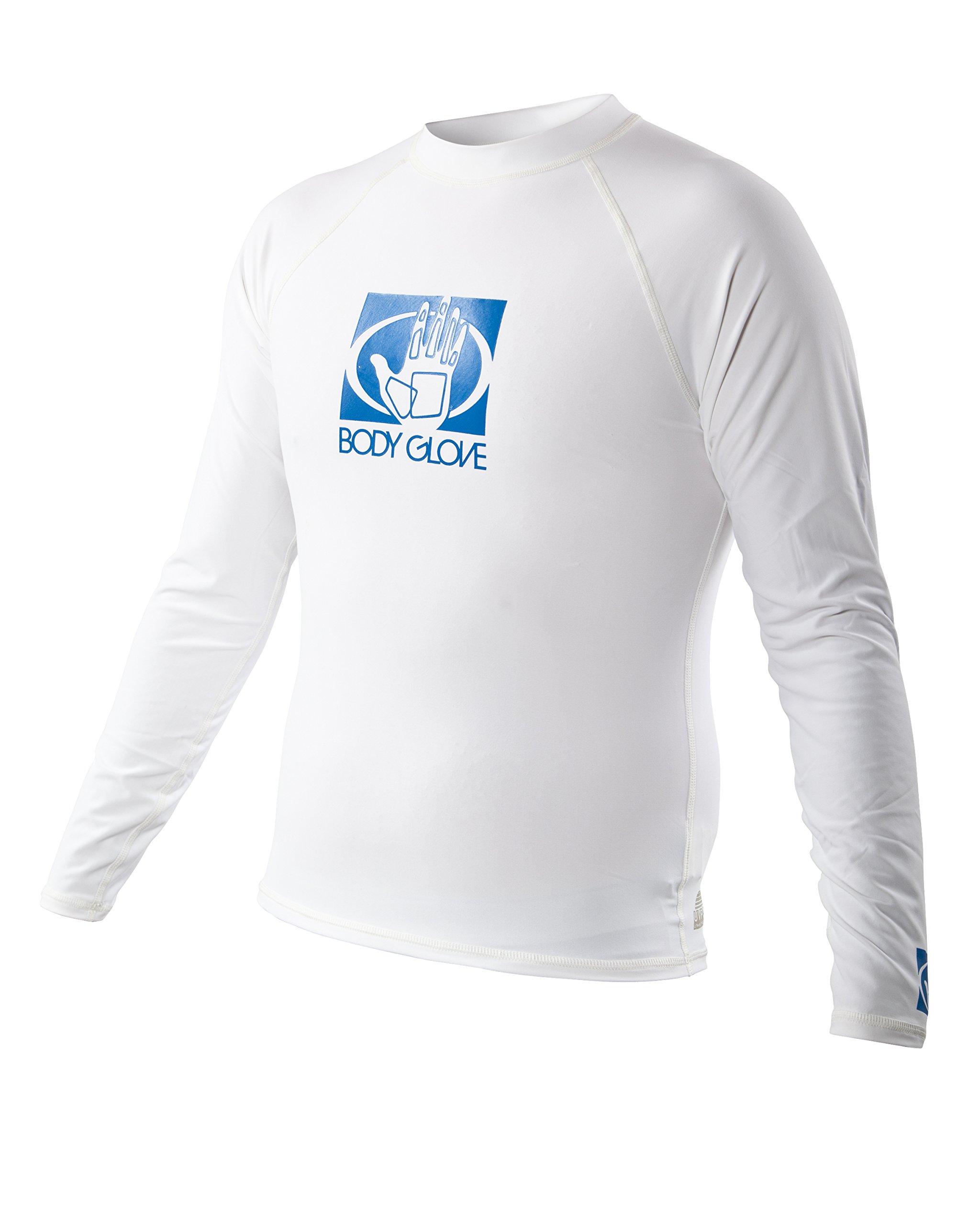 Body Glove Men's Basic Long Arm Rashguard, Small, White