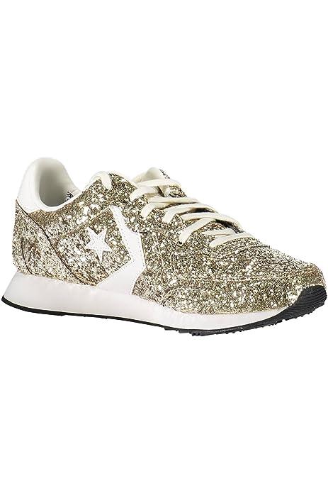 Converse Zapatillas Auckland Racer Ox Glitter Oro EU 37: Amazon.es: Zapatos y complementos
