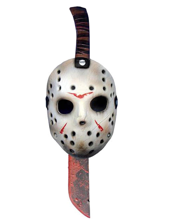 Máscara y machete de Jason Viernes 13: Amazon.es: Juguetes y ...