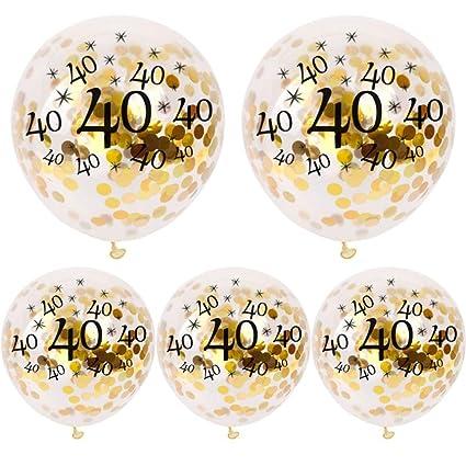 Igemy 5 Pcs 30 40 50 Ans Joyeux Anniversaire âge Confettis Garni Ballons Fête De Mariage Décor B