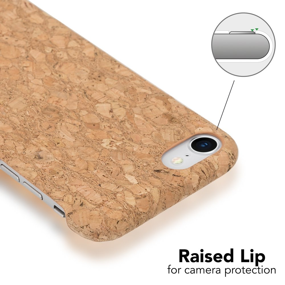 Cubierta Protectora Delgado Telefono Movil Smart-Phone Bumper NALIA Corcho Funda Compatible con iPhone 8//7 Aspecto de Madera Carcasa Dura Ultra-Fina Hard-Case Cover Designs:Cork Mandala