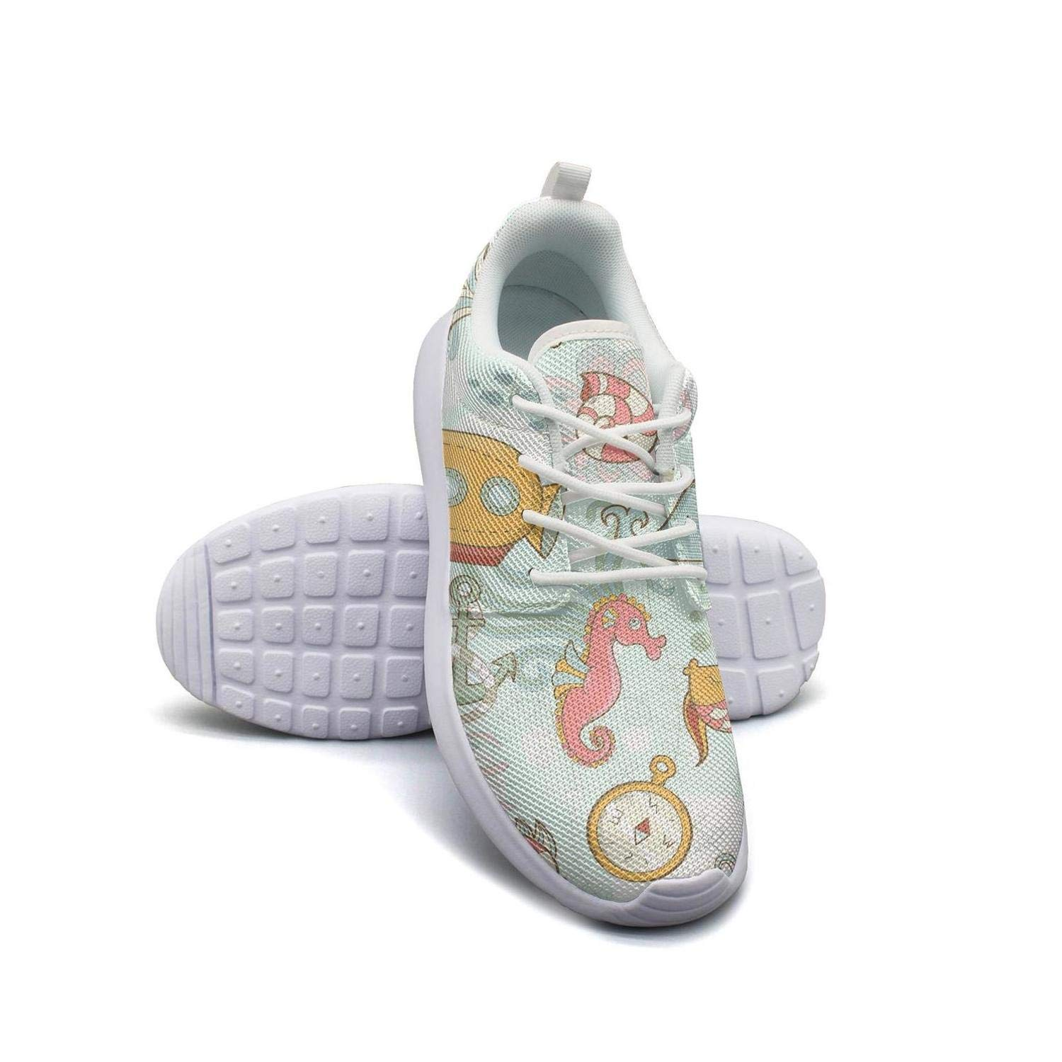 Whale Flower Art Womans Skateboard Casual Shoes Sneakers Low Help Classic Running Shoes