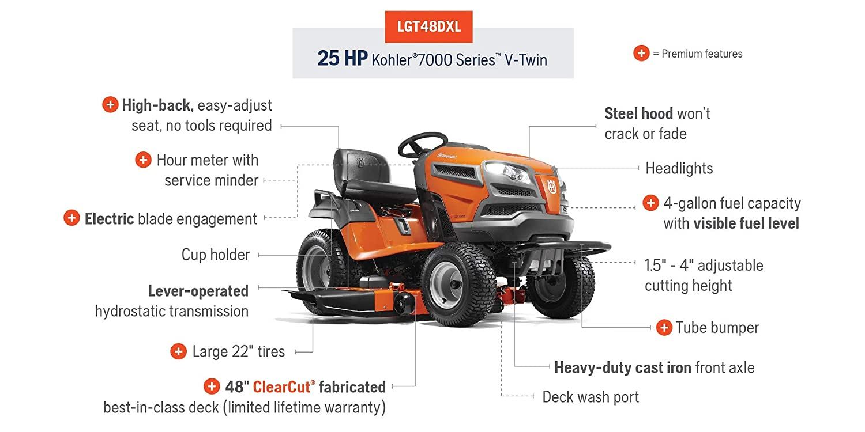 Amazon.com: Husqvarna lgt48dxl 48 inch 24 HP (Kohler ...