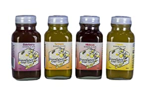 ImmuneSchein Ginger Elixir, (4) Four Ea., 2 oz. Shot Sampler - Handcrafted, Low Carb Ginger Mixer/Ginger Shot made from Fresh Organic Ginger Root; Only 4 Real Food Ingredients in Glass Bottles