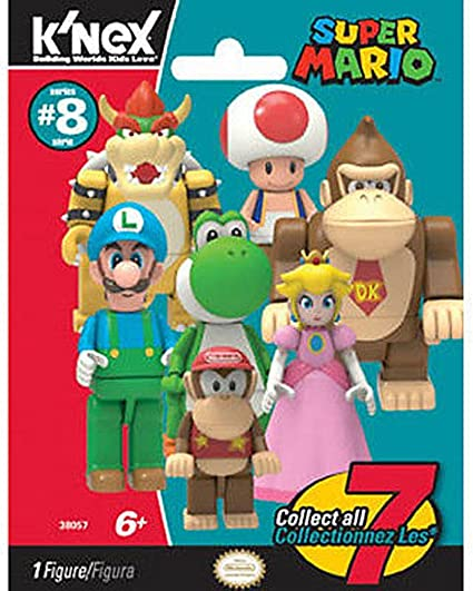 K/'Nex Super Mario Series 10 Blind Bag Figures COMPLETE LOT ALL 7 2017