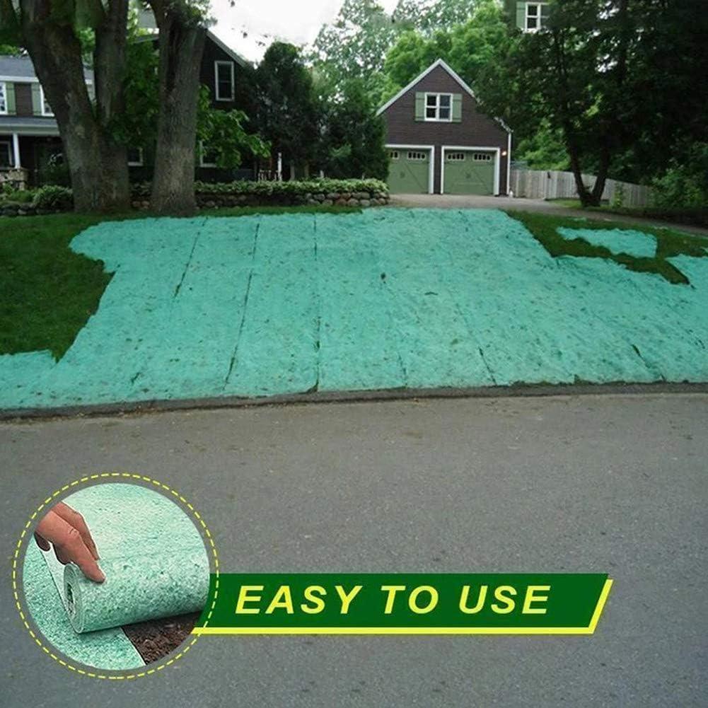 EKUPUZ Biodegradable Grass Seed Mat,Lawn Planting Fertilizer Paper Fertilizer Garden Picnic 10Mx0.2M Or 3Mx0.2M Size
