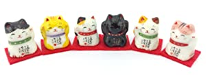 Mini Maneki Neko - Set of 6
