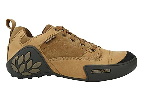 518c3cbcecd2b Woodland Men s Camel Leather Shoes (42)  Buy Online at Low Prices in India  - Amazon.in