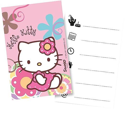 Monster Parties Hello Kitty Bamboo Einladungskarten: Amazon.de ...