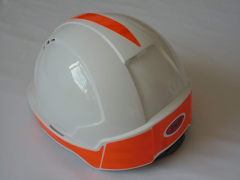 Hi Viz Orange CR2 Evolite Hard Hat with factory fitted Prismatix Reflectivity