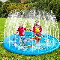 Harddo Splash Speelmat, outdoor sprink- en splash speelmat, opblaasbaar waterspeelgoed, outdoor zwembad speelgoed voor…