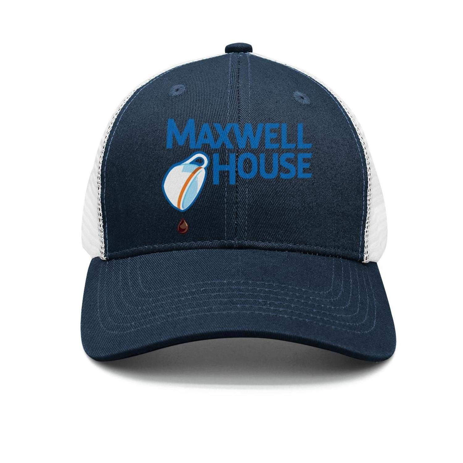 Mens Womens Cool Cap Hip Hop Fit-Maxwell-House-Sign-Snapback Cotton Hat Logo