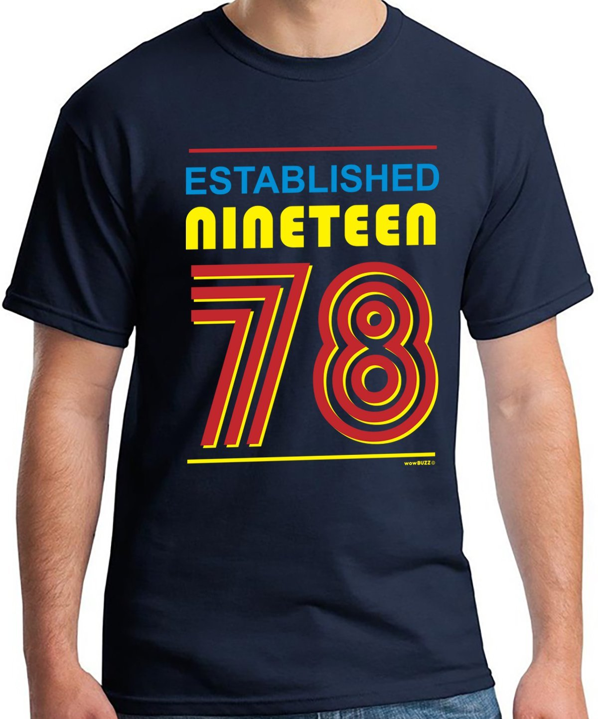 40th Birthday Gifts for Men Established 1978 T-Shirt