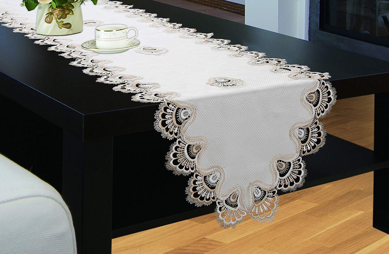 ロイヤル寝具Crestテーブルクロス、豪華刺繍テーブルクロス、Top Dinnerキッチンテーブルカバー 16