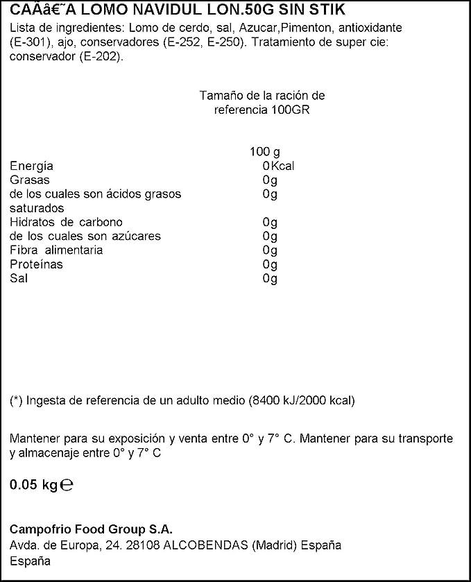 Navidul Caña de Lomo Lonchas, 15 Lonchas