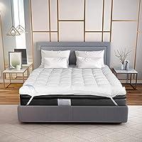 Hush Standard Mattress Topper (78 x 72 inch) I Imported Softex Fiber Filling I Comfort of A 5 Star Hotel Room I Soft Feel