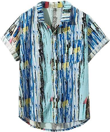Cocoty-store 2019 Original Funky Camisa Hawaiana | Señores | Manga Corta | Bolsillo Delantero | Impresión de Hawaii | Playa, M-XXXL, Azul: Amazon.es: Ropa y accesorios