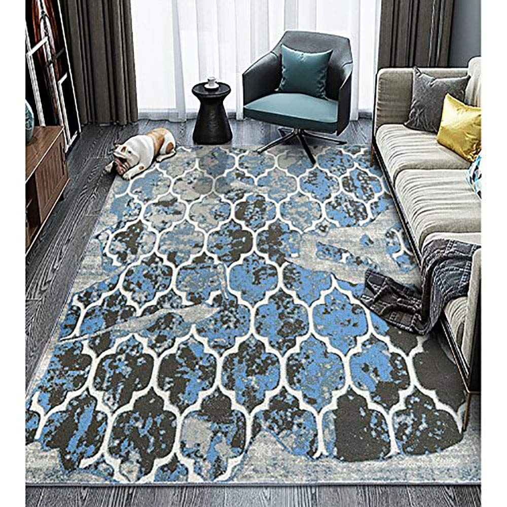 LOCHAS Stylish Labyrinth Collection Contemporary Area Rug for Living Room Bedroom Dining Room 2.4 X 6, Irregular Pattern
