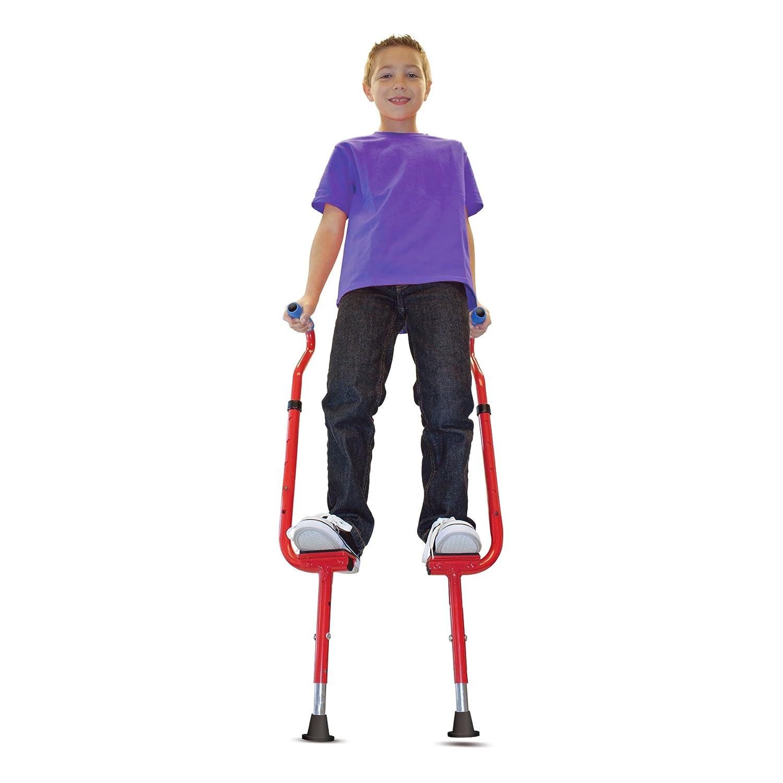 Geospace Original Walkaroo 'Wee' Balance Stilts Beginners Little Kids Ages 4 up Red