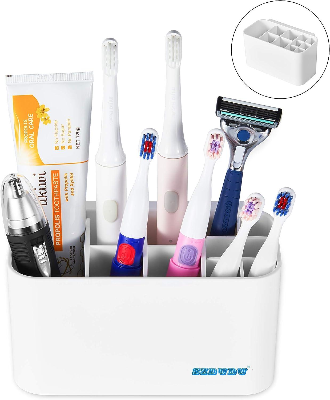 Keine Notwendigkeit L/öcher in die Wand zu stanzen Leicht zu reinigende Zahnb/ürstenlagerung SZDUDU Kann den elektrischen Zahnb/ürstenhalter bewegen und zerlegen