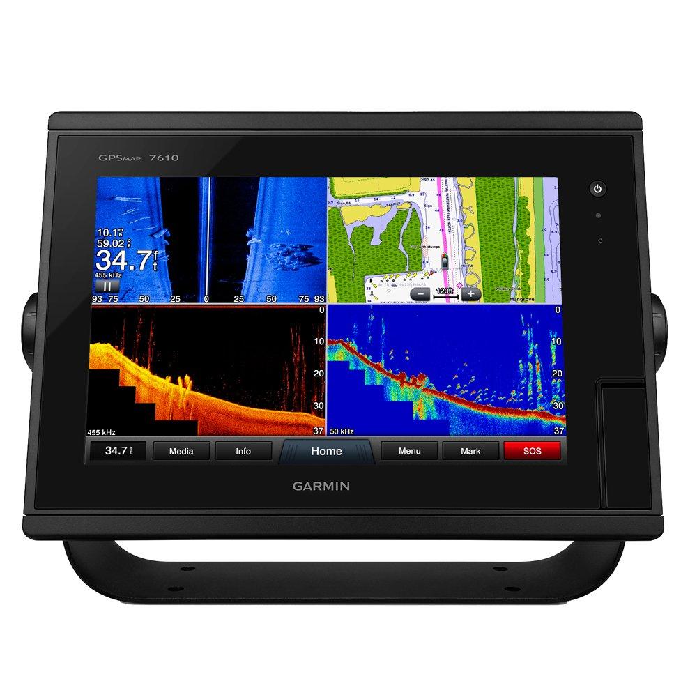 Garmin GPSMAP 7610 10 Chartplotter w/J1939 Port, LakeV252; HD & g2 Charts