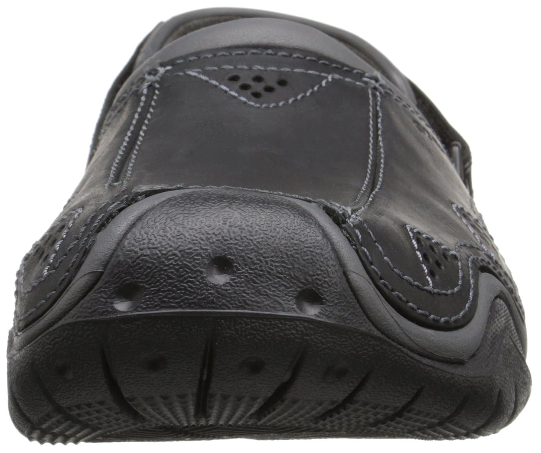 3658871e6 Crocs Men s Swiftwater Leather Clog  Amazon.co.uk  Shoes   Bags