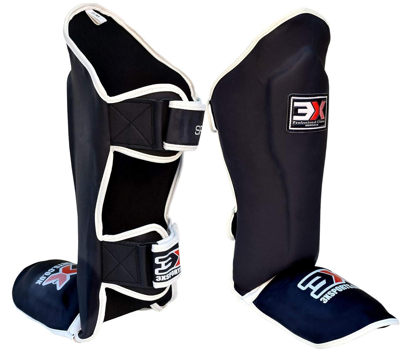 3X Professional Choice Shin Instep Guard Krav Maga MMA Almohadillas para Las piernas Equipo de protecci/ón Boxeo tailand/és UFC Entrenamiento Kickboxing Haya, L//XL