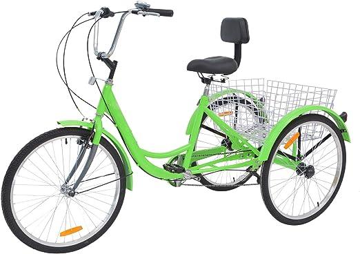 Barbella Cesta Plegable para Bicicleta de 26 Pulgadas, 3 Ruedas ...