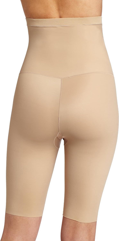 L Maidenform Women/'s Instant Hi Waist Thigh Slimmer M Beige S