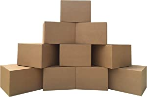 "uBoxes 10 Extra Large Moving Boxes 23x23x16"" Standard Corrugated Moving Box"