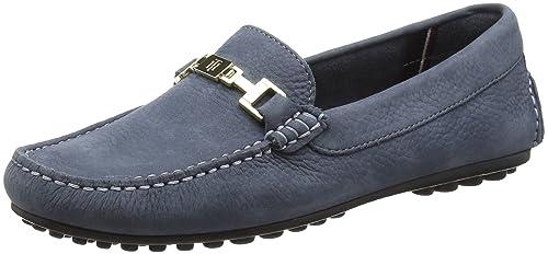 Tommy Hilfiger FW56821423, Mocasines Mujer, Azul (Folkstone Grey031), 42 EU: Amazon.es: Zapatos y complementos