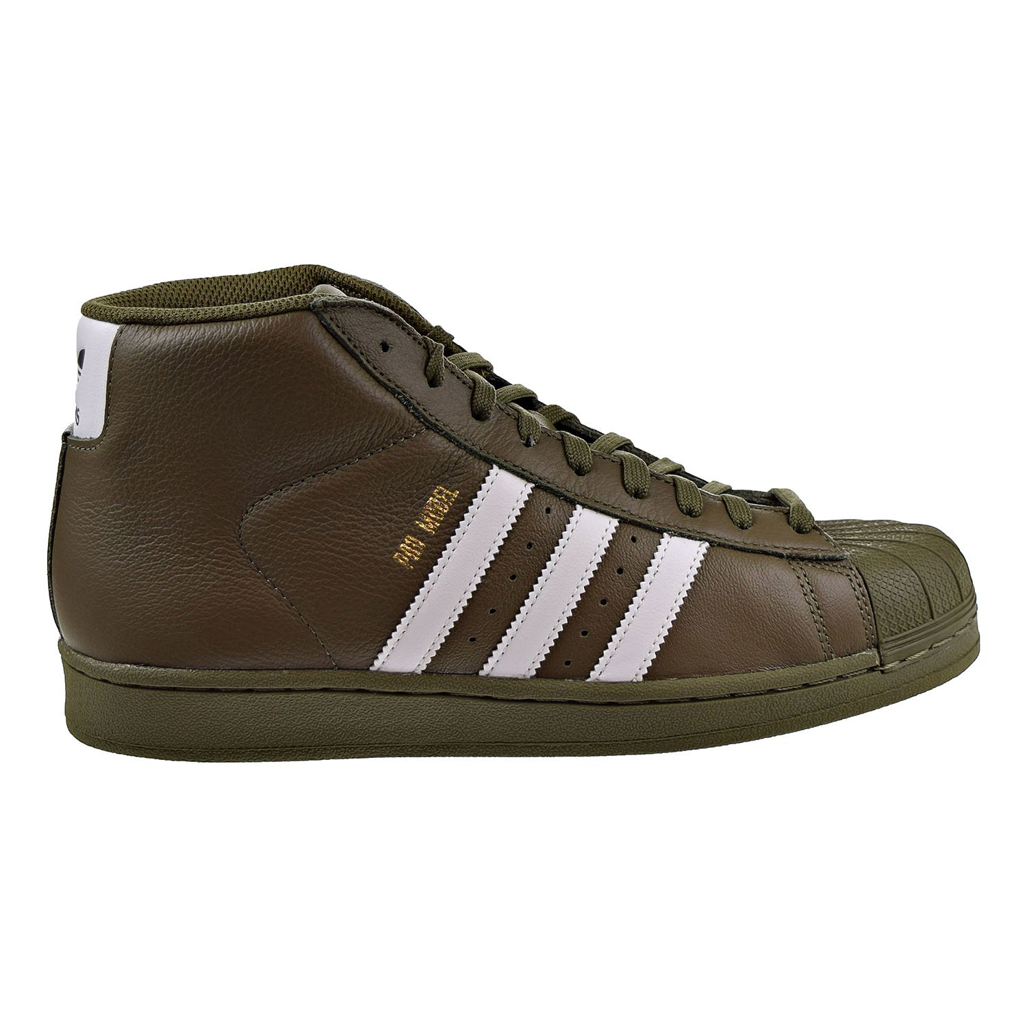 adidas Men's Pro Model Sneakers,Olive/Cargo,7.5 B076FB568W 9 D(M) US|Olive/White/Gold