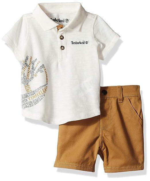 Timberland Baby Boys 2 Pieces Polo Shorts Set: Amazon.es