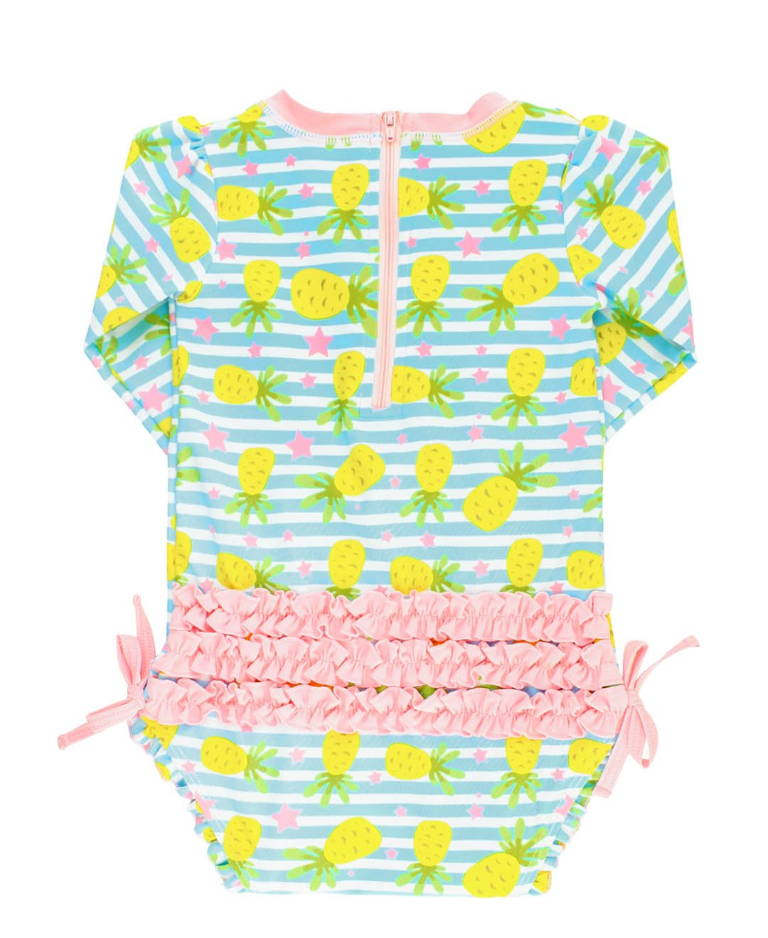 1cee21172 RuffleButts Little Girls Long Sleeve One Piece Swimsuit - Pineapple  Paradise with UPF 50+ Sun Protection - 2T - RGSBL2T-1PPP < Rash Guard  Shirts < Clothing, ...