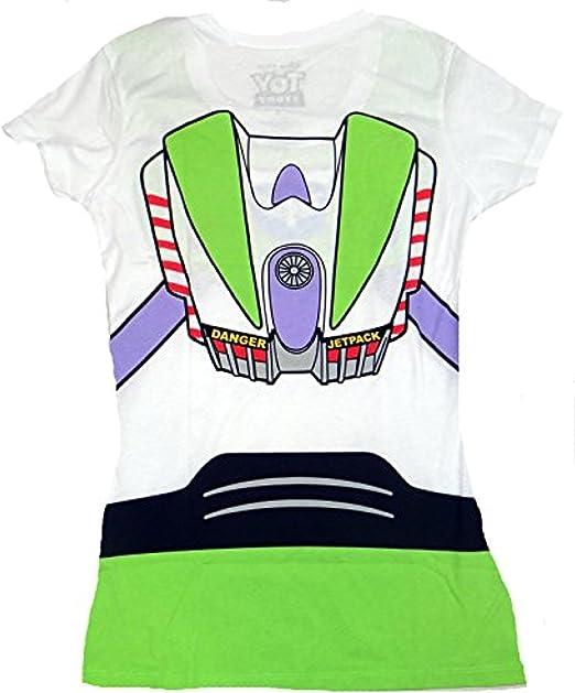 Toy Story Buzz Lightyear Disfraz Juniors Camiseta - Blanco ...