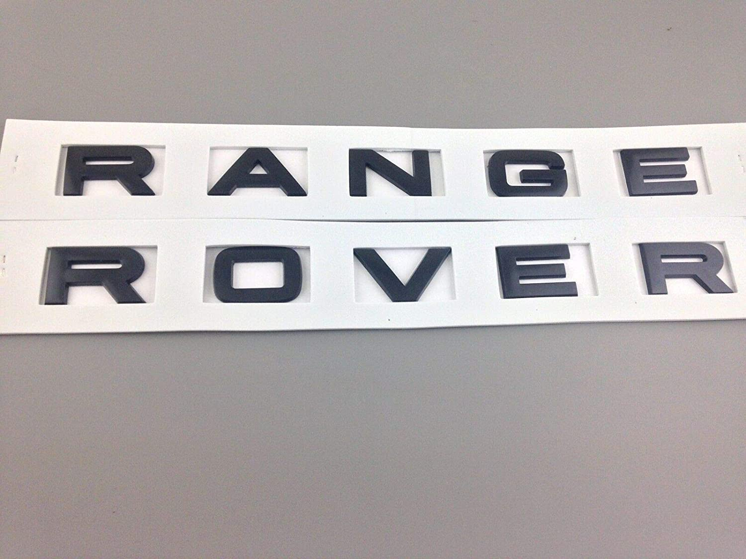 1PC New FOR R@nge Rover Black//SILVER LETTERS HOOD TRUNK TAILGATE EMBLEM BADGE Gloss black