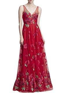 a0f6ec44 Marchesa Notte Women's Strapless Embroidered Hi_Lo Gown at Amazon ...