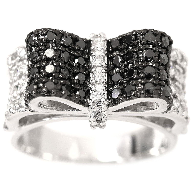 ダイヤ 0.93ct リボンモチーフ K18WG リング 11号 18金ホワイトゴールド ダイア 指輪 【中古】 90048196 B07DRCHRHW