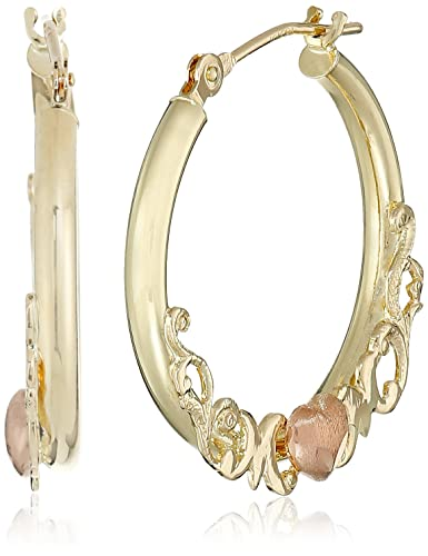 Amazon 10k Gold Hoop Earrings with Mom Lettering Jewelry