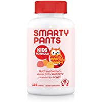 SmartyPants Kids Formula Daily Gummy Multivitamin: Vitamin C, D3, and Zinc for Immunity, Gluten Free, Omega 3 Fish Oil…
