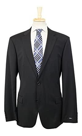 7a95bbc66a7 Canali Hugo Boss Black Wool 2 Button Suit Size 54/44 R at Amazon ...