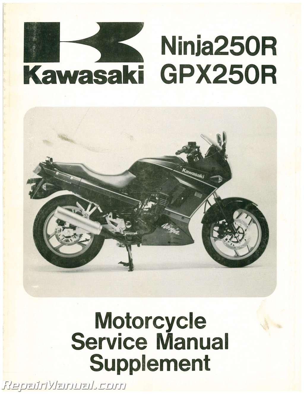 U99924-1109-56 Used 1988-1995 Kawasaki EX250F Ninja Motorcycle Supplement  Manual: Manufacturer: Amazon.com: Books