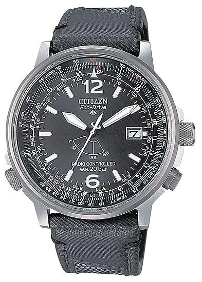 Citizen AS2020-02E - Reloj analógico de cuarzo para hombre, correa de nailon color negro: Amazon.es: Relojes