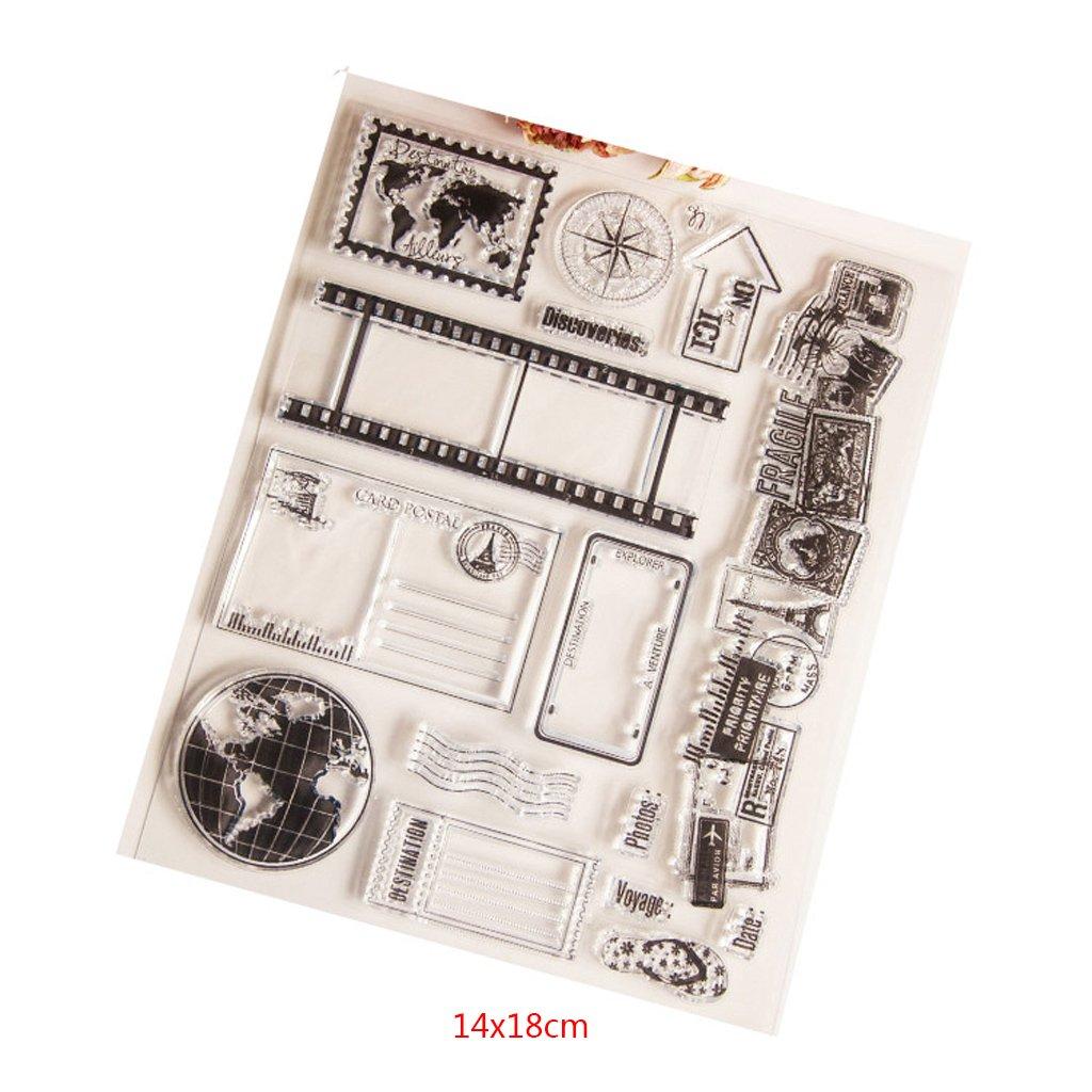 perfecto para DIY Tarjeta de felicitaci/ón Tarjeta de invitaci/ón port/átil Yiyilam Arrow Clear Sello de silicona Sello para /álbum de bricolaje Scrapbooking Tarjeta de foto Decoraci/ón Nuevo