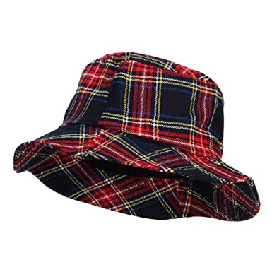 Jeanne Simmons Women s Plaid Bucket Hat - Navy OSFM at Amazon Women s  Clothing store  f7f5e760505