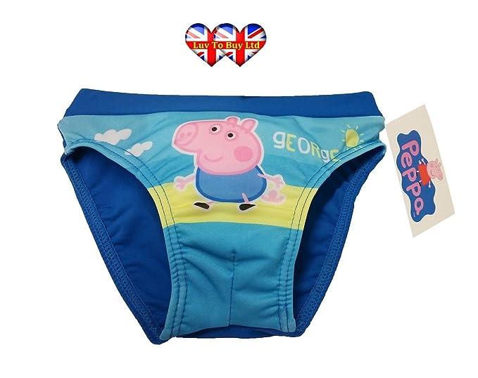 92eeaaab13732 Luv To Buy Ltd Peppa Pig Boys Swimming Shorts, George Pig Trunks, Boys  Swimwear