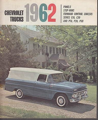 1962 Chevrolet Truck Catalog Panel Step-Van FC C10 C30 P10